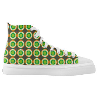 abstract geometric pattern circle round texture printed shoes
