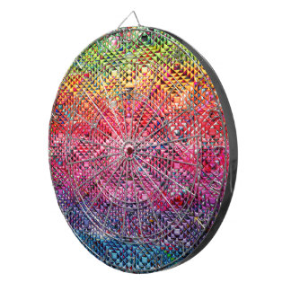 Abstract Geometric Pattern Dartboard