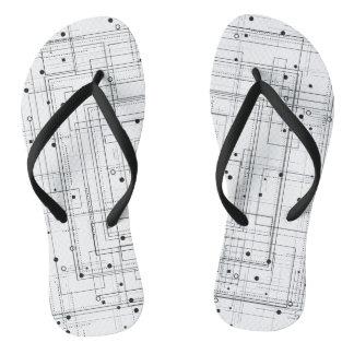 Abstract geometric pattern Flip Flops, Polka dots Flip Flops