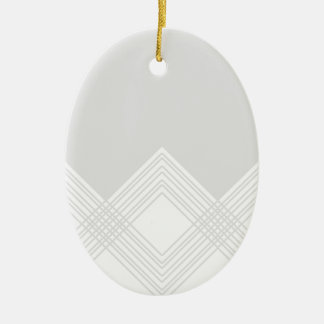 Abstract geometric pattern - gray and white. christmas ornament