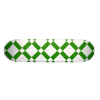 Abstract geometric pattern - green and white. skate board decks