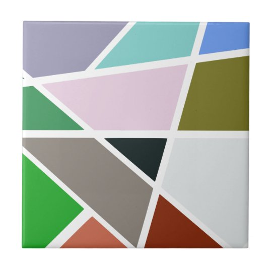 Abstract Geometric Pattern - Mid century, 1950's Small Square Tile