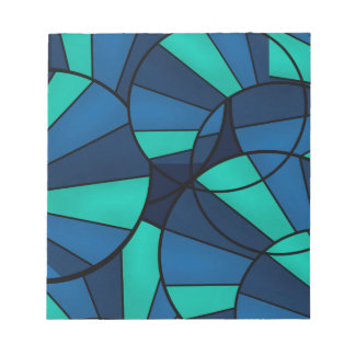 Abstract geometric pattern notepad