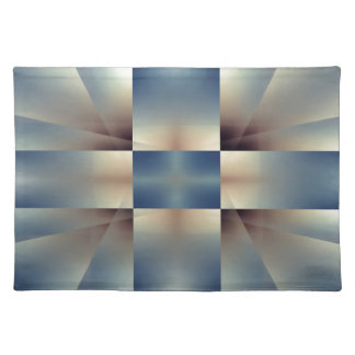 Abstract geometric pattern placemats