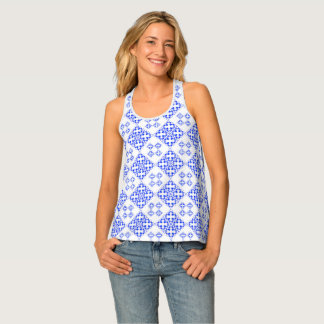 Abstract geometric pattern tank top