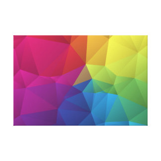 abstract geometric pattern, triangle design canvas prints