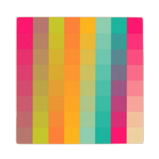 Abstract geometric pattern wood coaster