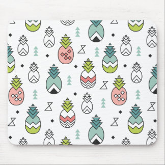 Abstract Geometric Pineapple Seamless Pattern Mouse Mat