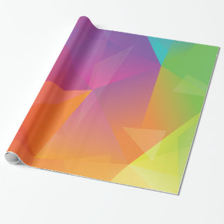 Abstract Geometric Rainbow Wrapping Paper