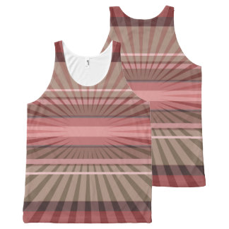 Abstract Geometric Rays and Stripes All-Over Print Tank Top