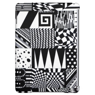 abstract geometric shapes black white pattern hand