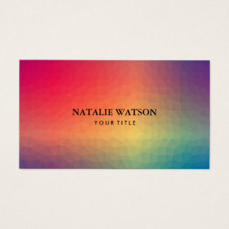 Abstract Geometric Shapes Modern Minimalist 3b Business Card