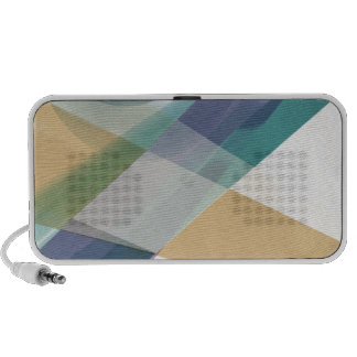 Abstract Geometric Shapes Watercolor Notebook Speaker