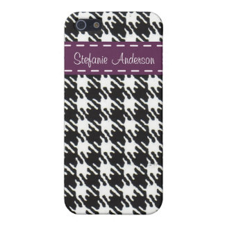 Abstract geometric squares black and white pattern iPhone 5/5S cases