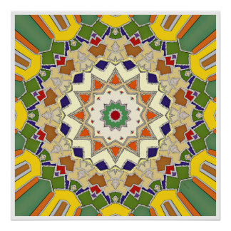 Abstract Geometric Star Design Poster