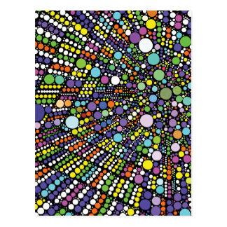 Abstract Geometric Starburst Print Postcard