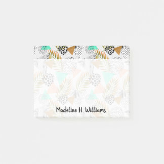 Abstract Geometric Tropical Leaf Pattern Post-it Notes
