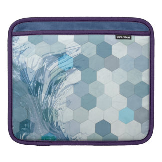 Abstract Geometric Water iPad Sleeve