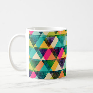 Abstract Geometric watercolor triangle pattern Basic White Mug