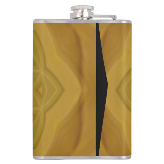 Abstract geometric wood pattern hip flask