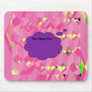 Abstract Geometric Zigzag With Image Mousepad