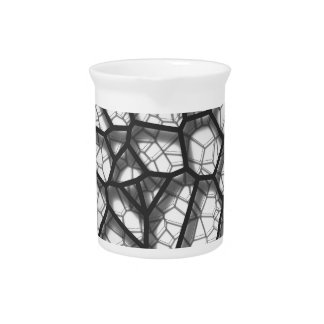 Abstract geometrical science concept voronoi low p pitcher