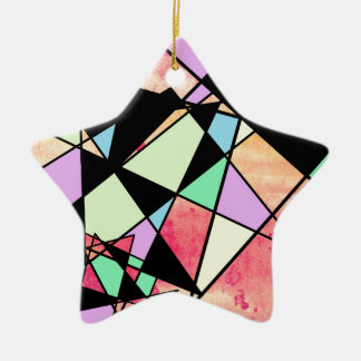 ABSTRACT GEOMETRY CERAMIC STAR DECORATION