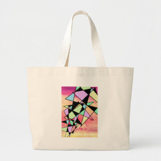 ABSTRACT GEOMETRY LARGE TOTE BAG