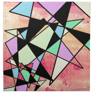 ABSTRACT GEOMETRY NAPKIN