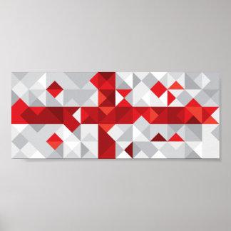 Abstract Georgia Flag, Georgian Flag Poster