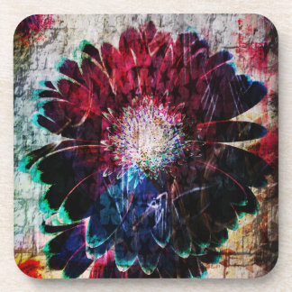 Abstract Gerbera Daisy Flowers Coaster