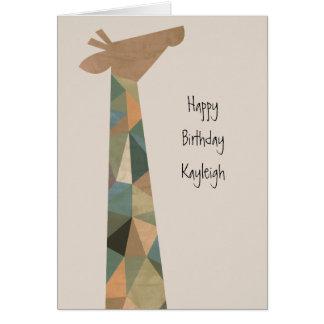 Abstract Giraffe Card