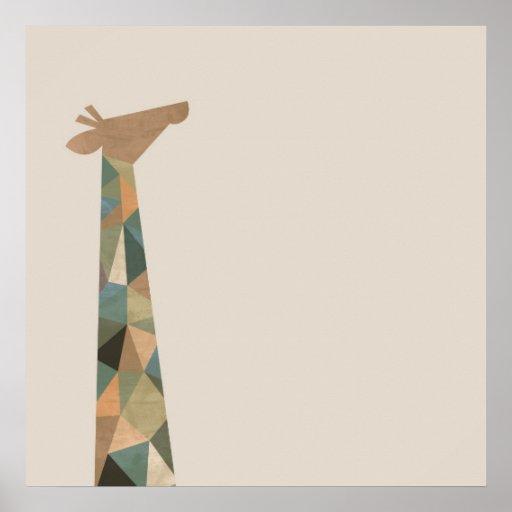 Abstract Giraffe Poster