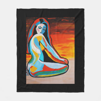 ABSTRACT GIRL 2 FLEECE BLANKET