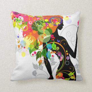 Abstract Girl American MoJo Pillow Throw Cushion