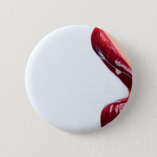 Abstract Girl Glossy Lips 6 Cm Round Badge