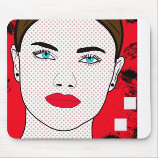 Abstract girl mouse pad