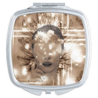 Abstract girl travel mirror