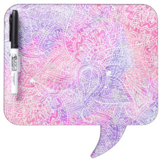 Abstract Girly Purple Pink Paisley Sketch Pattern Dry Erase Whiteboards