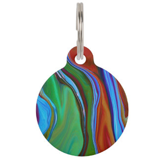 Abstract glass 7a pet name tag