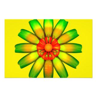 Abstract Glass Flower. Art Photo