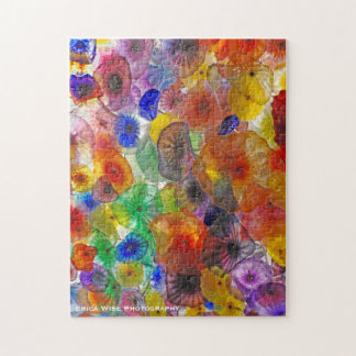 Abstract Glass Flowers Jigsaw Puzzle