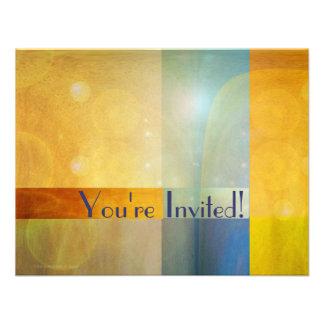 Abstract Glow Contemporary Invitation