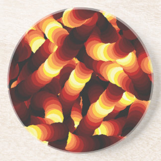 Abstract Glow Worm Art Drink Coasters