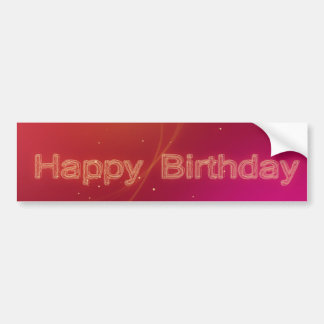 Abstract Glowing Happy Birthday - Bumper Sticker