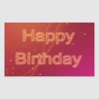 Abstract Glowing Happy Birthday - Sticker