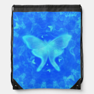 Abstract Glowing Luna Moth Backpack