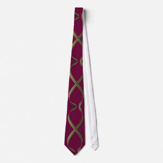 Abstract Gold Design Tie
