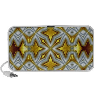 Abstract Gold Doodle Speakers Portable Speakers