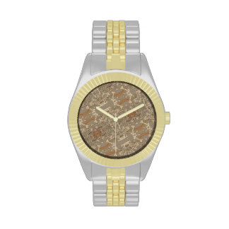 ABSTRACT GOLD WATCHES